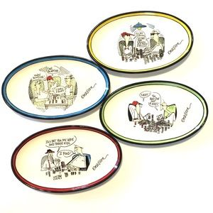 Emerson Signature Collection Poker Funny Plates